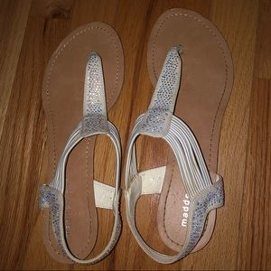 White Madden Girl Sparkly Sandals